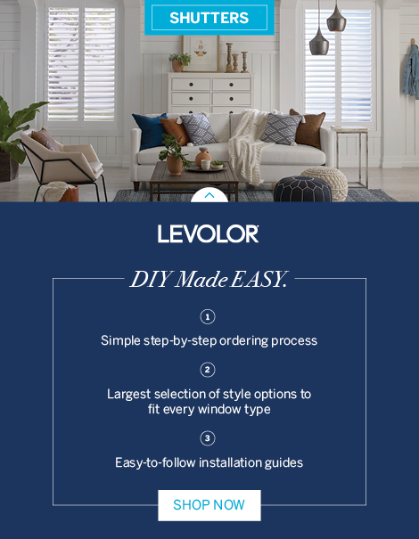 LEVOLOR Shutters - DIY Made Easy.